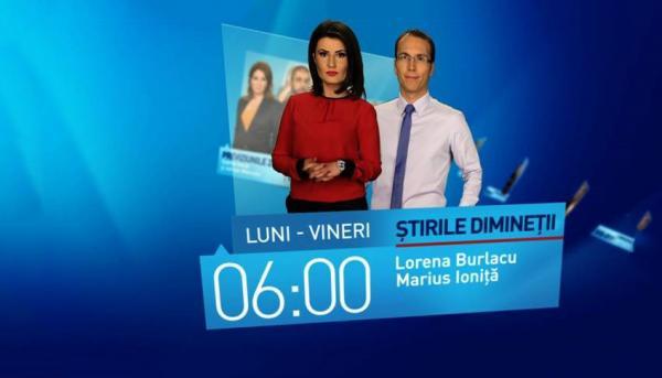 Ştirile dimineţii, cu Lorena Burlacu și Marius Ioniță