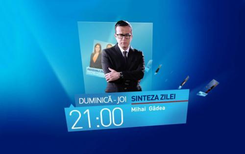 Sinteza Zilei, cu Mihai Gâdea